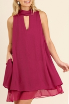 Umgee USA Berry Swing Dress