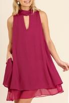 Umgee USA Berry Swing Dress