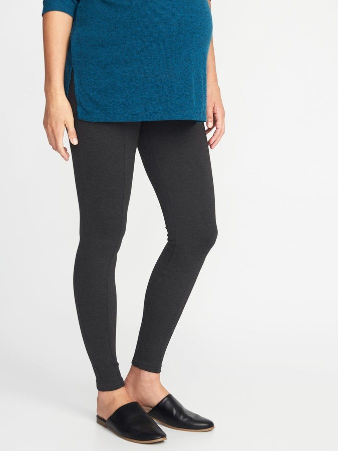 Thumbnail for your product : Old Navy Maternity Stevie Full-Panel Ponte-Knit Pants