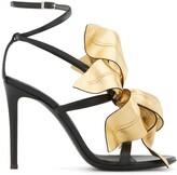 Giuseppe Zanotti Lilium flower applique sandals