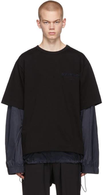 b677db0ac Black Layered T-Shirt