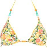 Stella McCartney Yellow Citrus Lycra Triangle Bikini Top