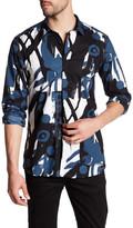 Antony Morato Printed Long Sleeve American Fit Shirt