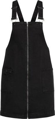 City Chic Zipper Front Denim Overall Dress