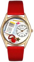 Whimsical Watches Women's C0640011 Classic Gold Math Teacher Red Leather And Goldtone Watch