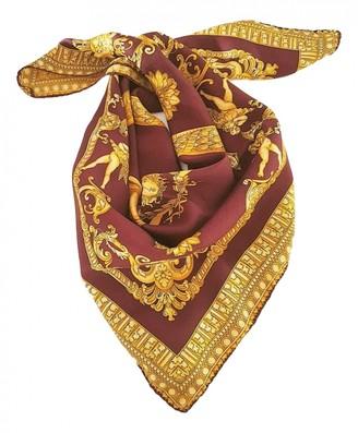 Versace Burgundy Silk Scarves
