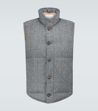 Brunello Cucinelli Wool and cashmere-blend gilet