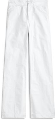 Ralph Lauren Mid-Rise Flare Cotton Pant