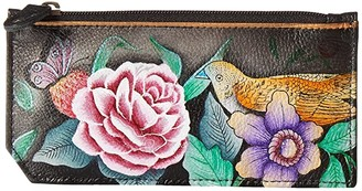 Anuschka RFID Blocking Card Case With Coin Pouch 1140 (Vintage Bouquet) Handbags