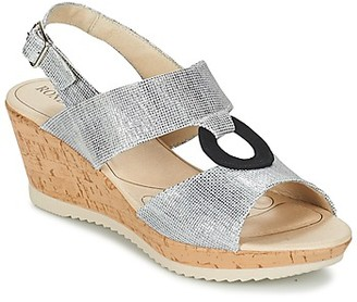 Rondinaud REPPE women's Sandals in Silver
