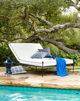 Horchow Avery Neoclassical Outdoor Double Chaise