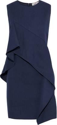 Diane von Furstenberg Ruffled Linen-blend Twill Mini Dress