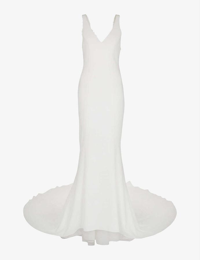 Whistles Billie V-neck woven wedding dress