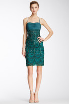 Sue Wong N3365 Ruched Bodice Beaded Cocktail Dress