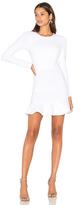 Donna Mizani Long Sleeve Jewel Neck Dress in White