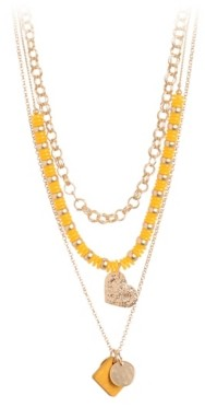 Crown Vintage Yellow Layered Necklace