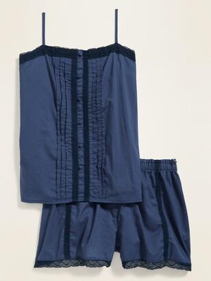 Old Navy Lace-Trim Pajama Cami & Pajama Shorts Set for Women