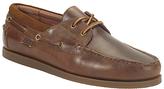 Ralph Lauren Dayne Leather Boat Shoes, Light Tan