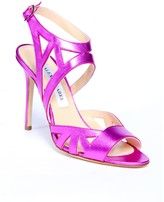 Alexis Isabel Scintilla Hot Pink Leather High Heel Sandal