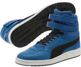 Puma Sky II Hi Colorblocked Leather Sneakers