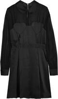Love Moschino Chiffon-paneled satin mini dress