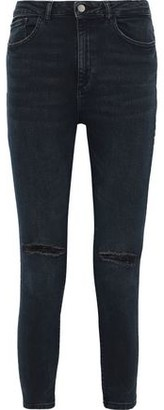 DL1961 Chrissy Cropped Distressed High-rise Skinny Jeans