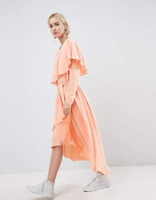 Asos Soft Layered Maxi Dress-Pink
