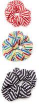 Solid & Striped Set of 3 Scrunchies