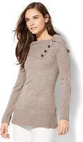 New York & Co. Buttoned Cowl-Neck Sweater
