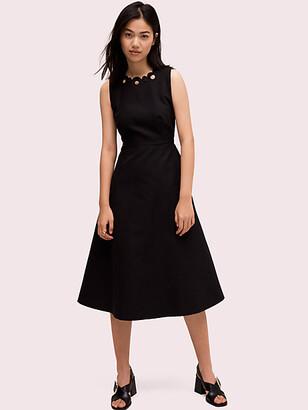 Kate Spade Scallop Cutout Midi Dress