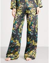 Meng Floral-print silk-satin pyjama trousers