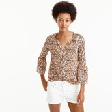 J.Crew Drake's® for bell-sleeve top in giraffe print