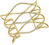 INC International Concepts Silver-Tone Pavé Open Cuff Bracelet, Created for Macy's