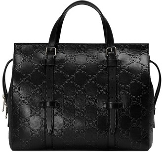 Gucci Relief Pattern Shopping Bag