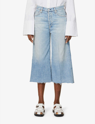 Citizens of Humanity Emily wide-leg high-rise organic-cotton jeans