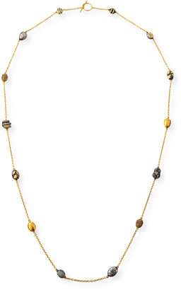 Yossi Harari Helen Wrap Necklace w/ Roxanne, Libra & Gilver Beads