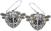 Sterling Silver 18K Gold Sweet Dragonfly Love Potion Earrings