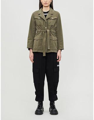 The Kooples Pocket-detail stretch-cotton jacket