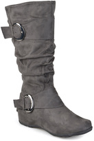 Journee Collection Gray Jester Extra Wide-Calf Boot