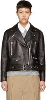 Acne Studios Black Leather Merlyn Biker Jacket