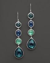 Ippolita Rock Candy Sterling Silver 4 Stone Drop Earrings in Neptune