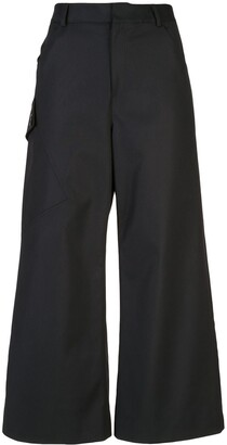 Derek Lam Cotton Sateen Culotte with Utility Pocket