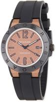Bvlgari 41mm Diagono Magnesium Watch, Coral/Black