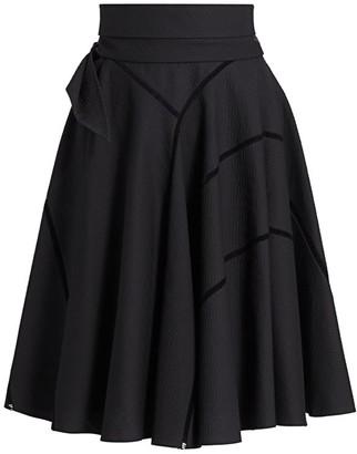 Alaia Alveole Cotton Belt Effect Skirt