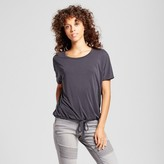 Mossimo Women's Dolman Sleeve Top with Drawstring Waist Gray