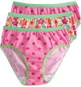Jockey Girls 3-pk. Floral & Dot Hipster Underwear
