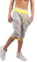 TOP ONE TopOne Men`s Capri Pants Cropped Pants Casual Slim Fit Harem Short Pant (L, )