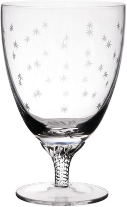 The Vintage List Six Hand-Engraved Crystal Bistro Wine Glasses With Stars Design