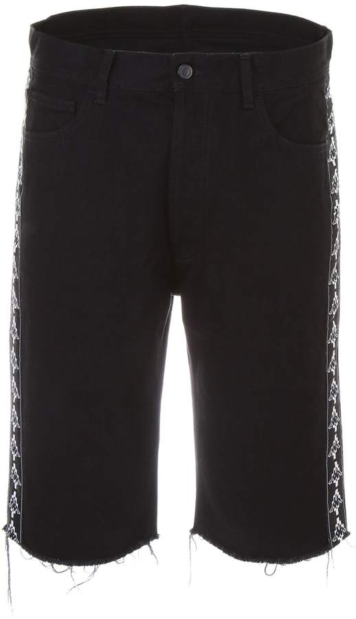 Marcelo Burlon County of Milan Kappa Denim Shorts