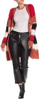 Cinq à Sept Marcelle Crop Flare Leather Pants